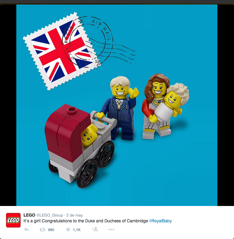 Lego - Royal birth - twitter